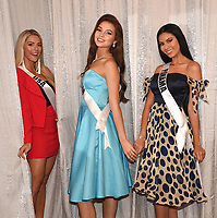BANGKOK, THAILAND - DECEMBER 15: 2018 MISS UNIVERSE: L-R: Miss USA Sarah Rose Summers, Miss Russia Yulia Polyachikhina and Miss Panama Rosa Iveth Montezuma during rehearsals for the 2018 MISS UNIVERSE competition at the Impact Arena in Bangkok, Thailand on December 15, 2018. Miss Universe will air live on Sunday, Dec. 16 (7:00-10:00 PM ET live/PT tape-delayed) on FOX.  (Photo by Frank Micelotta/FOX/PictureGroup)