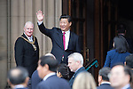 © Joel Goodman - 07973 332324 . 23/10/2015 . Manchester , UK . Chinese president , XI JINPING , visits Manchester as part of his state visit to the United Kingdom . Photo credit : Joel Goodman