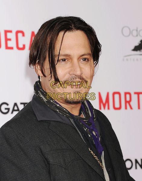 HOLLYWOOD, CA - JANUARY 21: Actress Johnny Depp arrives at The Los Angeles Premiere Of 'Mortdecai' at TCL Chinese Theatre on January 21, 2015 in Hollywood, California.<br /> CAP/ROT/TM<br /> &copy;TM/Roth Stock/Capital Pictures
