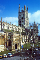 Gloucester: Gloucester Cathedral--South West view.