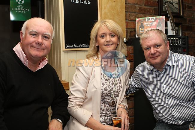 Eddie, Maria and Hugh Huston in the Black Bull...(Photo Jenny Matthews/www.newsfile.ie)