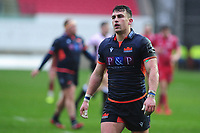 Damien Hoyland of Edinburgh during the Guinness Pro14 Round 11 match between the Scarlets and Edinburgh Rugby at the Parc Y Scarlets in Llanelli, Wales, UK. Saturday 15 February 2020