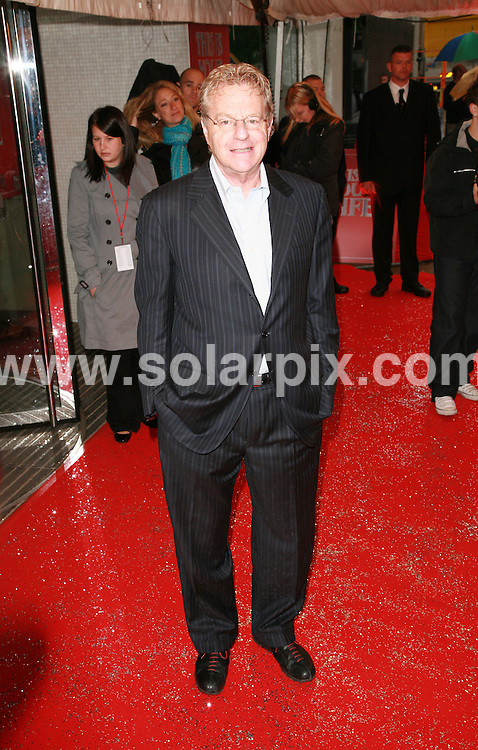 **ALL ROUND PICTURES FROM SOLARPIX.COM**.*WORLDWIDE SYNDICATION RIGHTS*.Jerry Springer.Simon Cowell's 'This is Your Life' arrivals at South Bank, London..JOB REF:  4007  GMT   DATE:  27.05.07.**MUST CREDIT SOLARPIX.COM OR DOUBLE FEE WILL BE CHARGED* *UNDER NO CIRCUMSTANCES IS THIS IMAGE TO BE REPRODUCED FOR ANY ONLINE EDITION WITHOUT PRIOR PERMISSION*
