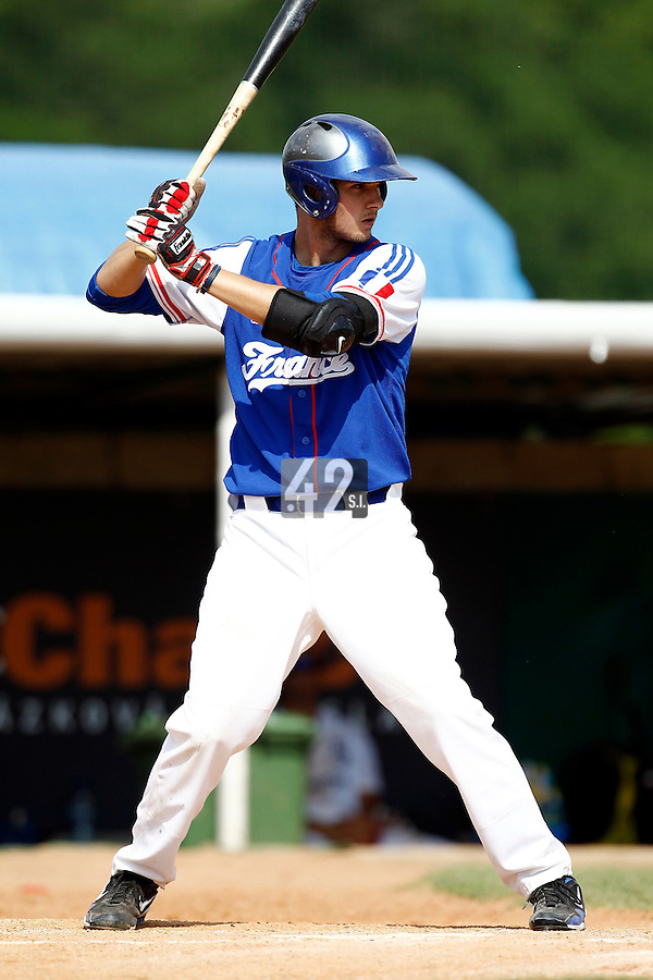 22 June 2011: Quentin Becquey of Team France is seen during AIST Alumni 5-3 win over France, at the 2011 Prague Baseball Week, in Prague, Czech Republic.