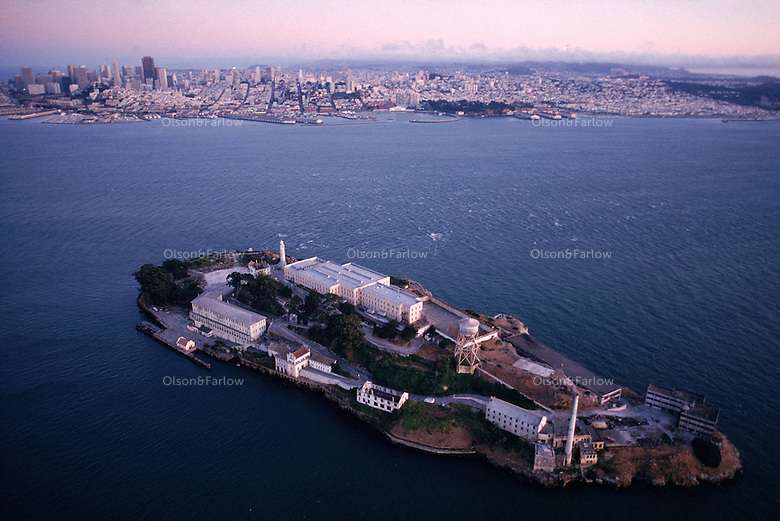 The Golden Gate National Recreation Area's Alcatraz Island was a lighthouse, then a military prison and finally a federal prison until 1963.  The Rock, as it is known, is located in San Francisco Bay.