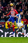 Francisco Montero of Atletico de Madrid (L) in action Borja Iglesias Quintas of RCD Espanyol during the La Liga 2018-19 match between Atletico de Madrid and RCD Espanyol at Wanda Metropolitano on December 22 2018 in Madrid, Spain. Photo by Diego Souto / Power Sport Images