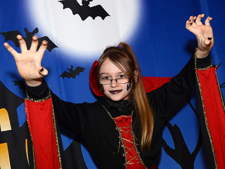 Holly Thornton enjoying the Halloween fun in Scotch Hall. Photo:Colin Bell/pressphotos.ie