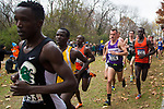 LOUISVILLE, KY - NOVEMBER 18: Aaron Templeton #226 and Amon Kemboi #131 of Campbell University compete during the Division I Men's Cross Country Championship held at E.P. Tom Sawyer Park on November 18, 2017 in Louisville, Kentucky. (Photo by Tim Nwachukwu/NCAA Photos via Getty Images)