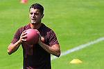 AS Roma's Football player Iago Falque in action during the AS Roma football training camp at Pinzolo, on July 7, 2015.