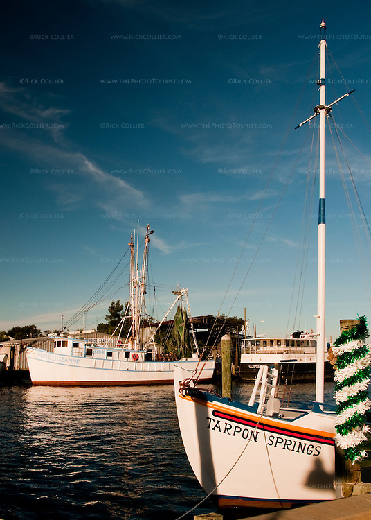 In the harbor at Tarpon Springs, Florida, USA.