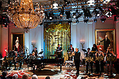 Stevie Wonder performs for the First Family and guests during a concert honoring Gershwin Prize winners Burt Bacharach and Hal David in the East Room at the White House in Washington on May 9, 2012.  .Credit: Kevin Dietsch / Pool via CNP