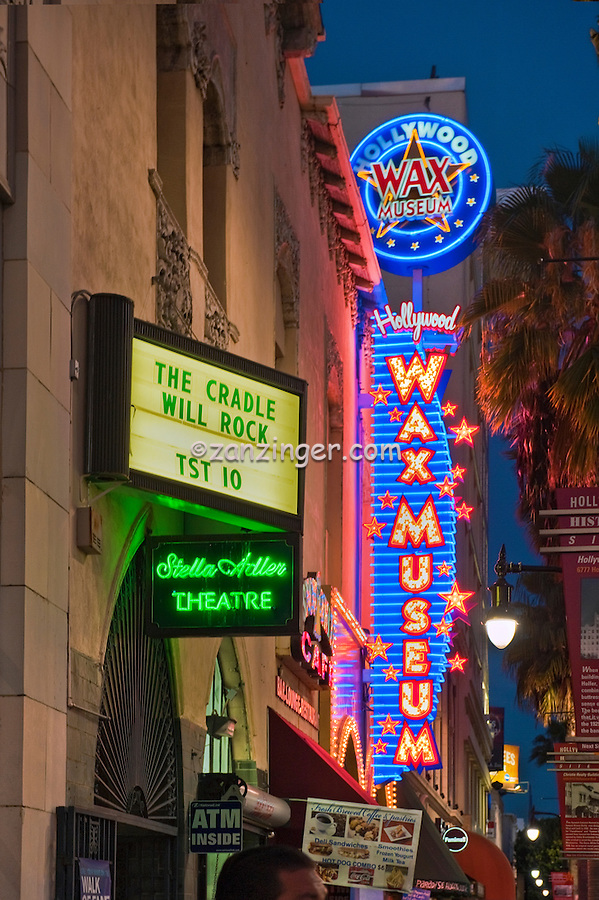 Hollywood Wax Museum, curio museum, Hollywood CA,  Hollywood Boulevard, ,Vertical image