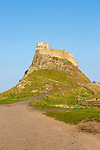 Lindisfarne castle on North Sea coast, Holy Island, Northumberland, England, UK