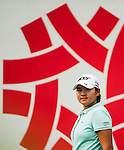 TAOYUAN, TAIWAN - OCTOBER 27:  Yani Tseng of Taiwan smiles on the 15th tee during the day three of the Sunrise LPGA Taiwan Championship at the Sunrise Golf Course on October 27, 2012 in Taoyuan, Taiwan.  Photo by Victor Fraile / The Power of Sport Images