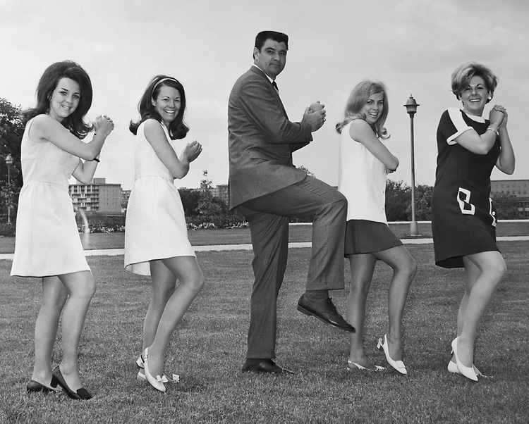Rep. Winger Ben, Miyell with staff members on baseball field in 1969. (Photo by Mickey Senko/CQ Roll Call via Getty Images)