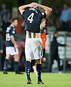 Dundee's Thomas Konrad at the end of the game.