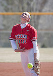 March 23, 2012:   Fresno State Bulldogs pitcher Michelle Moses throws against the Nevada Wolf Pack during their NCAA softball game played at Christina M. Hixson Softball Park on Friday in Reno, Nevada.