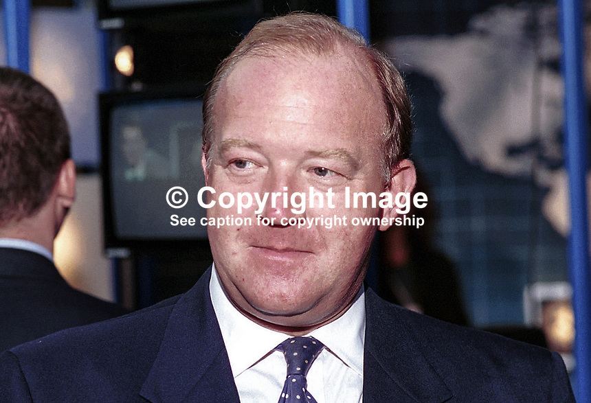 Derek Conway, Conservative MP, Britain. Taken at 1995 Conservative Conference in Blackpool. Ref: 199510021..Copyright Image from Victor Patterson, 54 Dorchester Park, Belfast, UK, BT9 6RJ..Tel: +44 28 9066 1296.Mob: +44 7802 353836.Voicemail +44 20 8816 7153.Skype: victorpattersonbelfast.Email: victorpatterson@mac.com.Email: victorpatterson@ireland.com (back-up)..IMPORTANT: If you wish to use this image or any other of my images please go to www.victorpatterson.com and click on the Terms & Conditions. Then contact me by email or phone with the reference number(s) of the image(s) concerned.