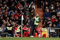 23rd November 2019; Estadio Santiago Bernabeu, Madrid, Spain; La Liga Football, Real Madrid versus Real Sociedad; Gareth Bale (Real Madrid)   warms-up before coming on as a substitute