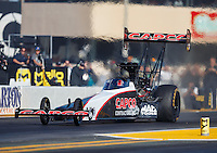 Jul 29, 2016; Sonoma, CA, USA; NHRA top fuel driver Steve Torrence during qualifying for the Sonoma Nationals at Sonoma Raceway. Mandatory Credit: Mark J. Rebilas-USA TODAY Sports