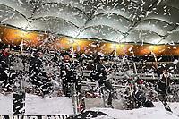 Konfettiregen der Eintracht Fans - 07.02.2018: Eintracht Frankfurt vs. 1. FSV Mainz 05, DFB-Pokal Viertelfinale, Commerzbank Arena