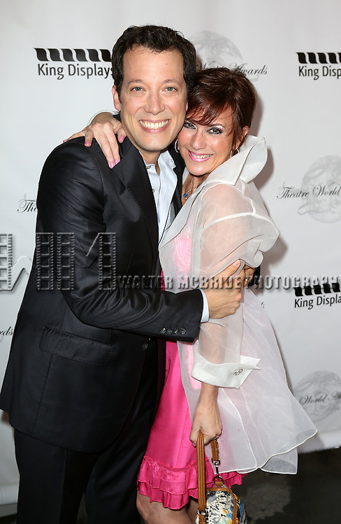 John Tartaglia, Colleen Zenk attending the 69th Annual Theatre World Awards at the Music Box Theatre in New York City on June 03, 2013.
