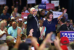 Republican Vice Presidential candidate Mike Pence and his wife Karen campaign in Carson City, Nev., on Monday, Aug. 1, 2016. Cathleen Allison/Las Vegas Review Journal