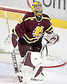 Derek MacIntyre - The Boston College Eagles and Ferris State Bulldogs tied at 3 in the opening game of the Denver Cup on Friday, December 30, 2005, at Magness Arena in Denver, Colorado.  Boston College won the shootout to determine which team would advance to the Final.