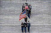 The remains of President George H.W. Bush are transported from the U.S. Capitol to the National Cathedral Wednesday December 5, 2018. <br /> Credit: Sarah Silbiger / Pool via CNP