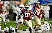 FSU's De'Cody Fagg picks up extra yardage after pulling in a Drew Weatherford pass on the Seminole's final scoring drive in regulation in the 2006 FedEx Orange Bowl Game.