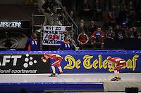 SCHAATSEN: HEERENVEEN: IJsstadion Thialf, 11-11-2012, KPN NK afstanden, Seizoen 2012-2013, 5000m Dames, Annouk van der Weijden, Jorien Voorhuis, ©foto Martin de Jong
