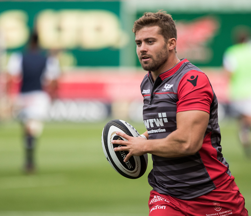 Scarlets' Leigh Halfpenny during the pre match warm up<br /> <br /> Photographer Simon King/CameraSport<br /> <br /> Guinness Pro14 Round 1 - Scarlets v Southern Kings - Saturday 2nd September 2017 - Parc y Scarlets - Llanelli, Wales<br /> <br /> World Copyright &copy; 2017 CameraSport. All rights reserved. 43 Linden Ave. Countesthorpe. Leicester. England. LE8 5PG - Tel: +44 (0) 116 277 4147 - admin@camerasport.com - www.camerasport.com