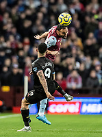 Aston Villa's Ahmed Elmohamady competing with Manchester City's Gabriel Jesus (left) <br /> <br /> Photographer Andrew Kearns/CameraSport<br /> <br /> The Premier League - Aston Villa v Manchester City - Sunday 12th January 2020 - Villa Park - Birmingham<br /> <br /> World Copyright © 2020 CameraSport. All rights reserved. 43 Linden Ave. Countesthorpe. Leicester. England. LE8 5PG - Tel: +44 (0) 116 277 4147 - admin@camerasport.com - www.camerasport.com