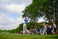 Dustin Johnson (USA) watches his tee shot on 3 during round 6 of the World Golf Championships, Dell Technologies Match Play, Austin Country Club, Austin, Texas, USA. 3/26/2017.<br /> Picture: Golffile | Ken Murray<br /> <br /> <br /> All photo usage must carry mandatory copyright credit (&copy; Golffile | Ken Murray)
