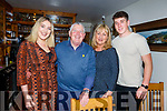 Elaine O&rsquo;Connor from Tralee enjoying her meal in Bella Bia on Thursday, with her family before she flies off to Vancouver.<br /> L-r, Elaine, Jim, Joesph and Helen O&rsquo;Connor.