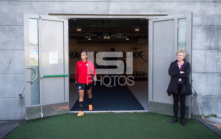 Sandefjord, NOR - June 10, 2017: The USWNT trains in preparation for their friendly against Norway at Komplett Arena.