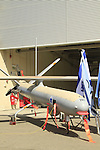 Israeli made Hermes 450 UAV at Palmachim Air Force base, the drone, made by Elbit Systems is a medium size unmanned aerial vehicle (UAV) designed for tactical long endurance missions