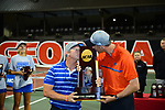 ATHENS, GA - MAY 23: Head Coach Roland Thornqvist and Associate Head Coach Dave Balogh of the University of Florida celebrate after defeating Stanford University during the Division I Women's Tennis Championship held at the Dan Magill Tennis Complex on the University of Georgia campus on May 23, 2017 in Athens, Georgia. (Photo by Steve Nowland/NCAA Photos via Getty Images)