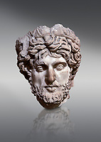 Roman statue head of a man. Marble. Perge. 2nd century AD. Inv no 2005/82. Antalya Archaeology Museum; Turkey.