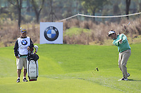 Gonzalo Fernandez-Castano (ESP) plays his 2nd shot on the 9th hole during Sunday's Final Round of the 2014 BMW Masters held at Lake Malaren, Shanghai, China. 2nd November 2014.<br /> Picture: Eoin Clarke www.golffile.ie