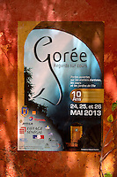 "Poster Announcing Tenth Anniversary of Goree Island's ""Open Courtyards"" Arts Festival.  Senegal"