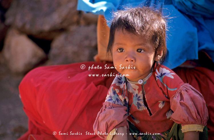 Portrait of a Tarahumaran baby boy, Chihuahua, Mexico.