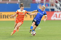 Frisco, TX - Sunday September 03, 2017: Cari Roccaro, Jess Fishlock during a regular season National Women's Soccer League (NWSL) match between the Houston Dash and the Seattle Reign FC at Toyota Stadium.