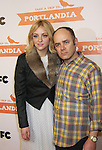 Abby Elliott & Todd Barry attend the Portlandia Season 2 Premiere Screening on January 5, 2012 at the American Museum of Natural History, New York City, New York. (Photo by Sue Coflin/Max Photos)