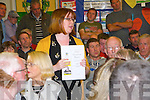 North Kerry Wind Turbine Meeting:  Cllr. Diane Nolan speaking at the  anti turbine meeting   held in Dromclough  NS on Thursday night last.
