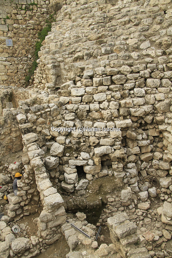 Israel, Jerusalem, City of David, the Stepped Stone Structure in Area G