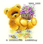 GIORDANO, CUTE ANIMALS, LUSTIGE TIERE, ANIMALITOS DIVERTIDOS, Teddies, paintings+++++,USGI1835,#AC# teddy bears