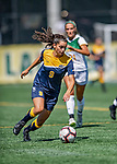 1 September 2019: Merrimack College Warrior Defender Brianna CoCo, a Freshman from Bedford, NH, in action against the University of Vermont Catamounts in Game 3 of the TD Bank Women's Soccer Classic at Virtue Field in Burlington, Vermont. The Lady Warriors rallied in the second half to defeat the Catamounts 2-1. Mandatory Credit: Ed Wolfstein Photo *** RAW (NEF) Image File Available ***