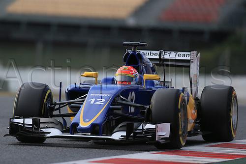25.02.2016. Circuit de Catalunya, Barcelona, Spain. Day 4 of the Spring F1 testing and new car unvieling for 2016-17 season.  Sauber F1 Team C34 – Felipe Nasr
