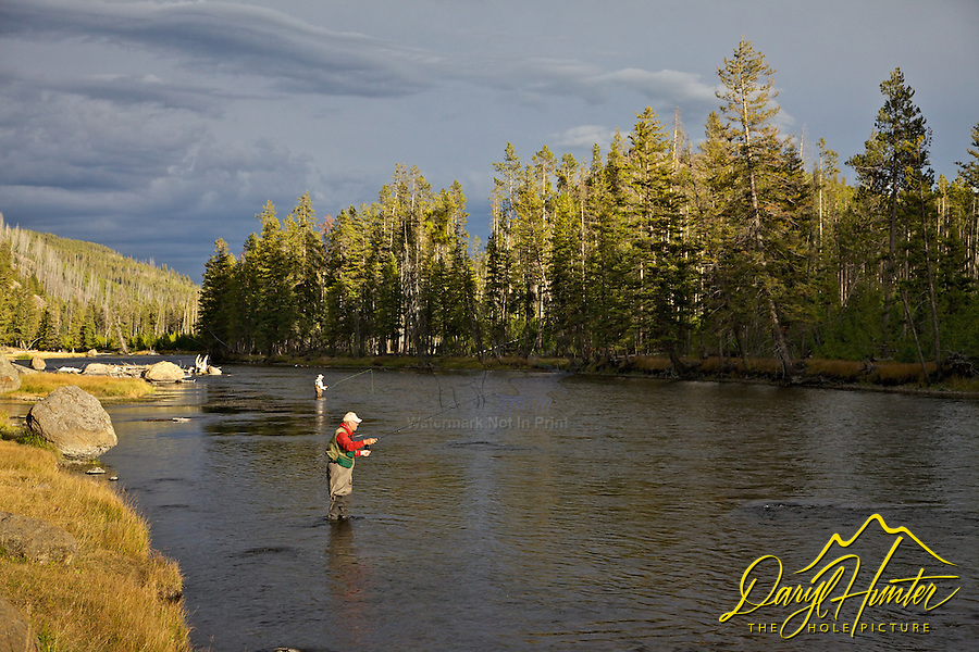 Madison River Fly Fishermen, Yellowstone National Park